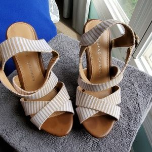 Summer stripey wedges so cute